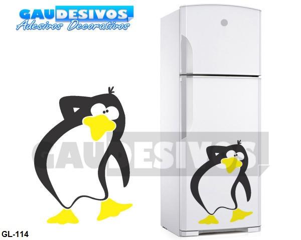 Aparador Em Mdf Com Gaveta ~ Adesivo Decorativo De Geladeira Pinguim Cozinha Freezer