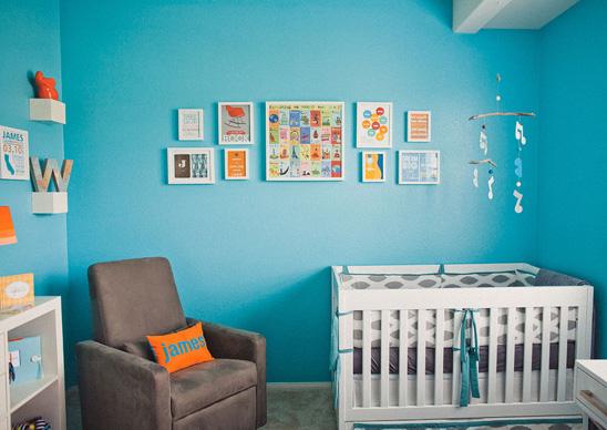 Ideias modernas de decoração quarto de bebê Adesivos de
