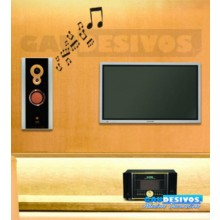 Adesivos Musicais Letras