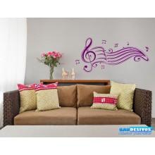 Adesivo Musical com Notas Musicais