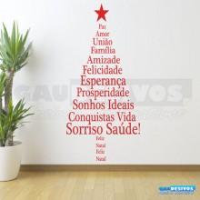 Adesivo de Natal Árvore de Palavras
