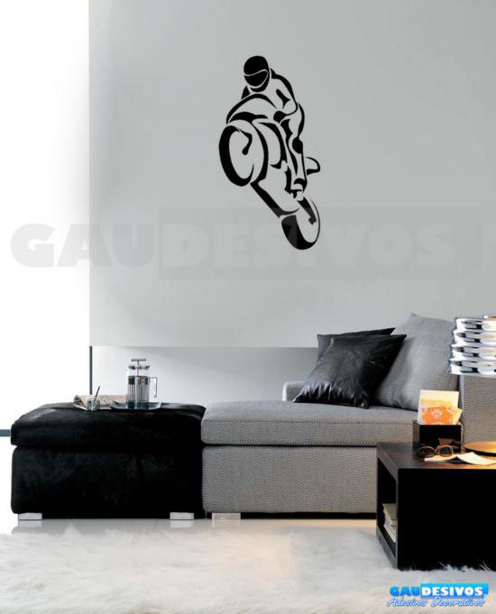 Adesivo De Bailarina ~ Adesivo De Parede Decorativo Moto Empinando Pneu R$ 29,99 em Mercado Livre