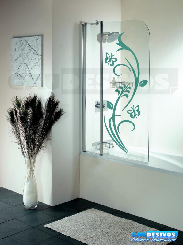 Aparador Verde Envejecido ~ Adesivo Decorativo de parede Floral ambos com borboleta