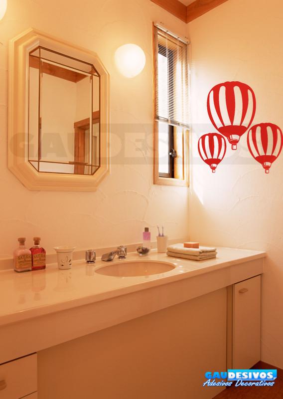 Aparador Cocina Madera ~ Adesivo de parede decorativos banheiro Bal u0