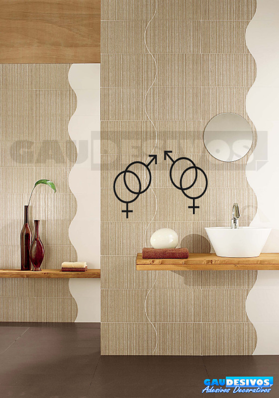 Adesivo de parede decorativos banheiro Sinal  Banheiro -> Sinal Banheiro Feminino