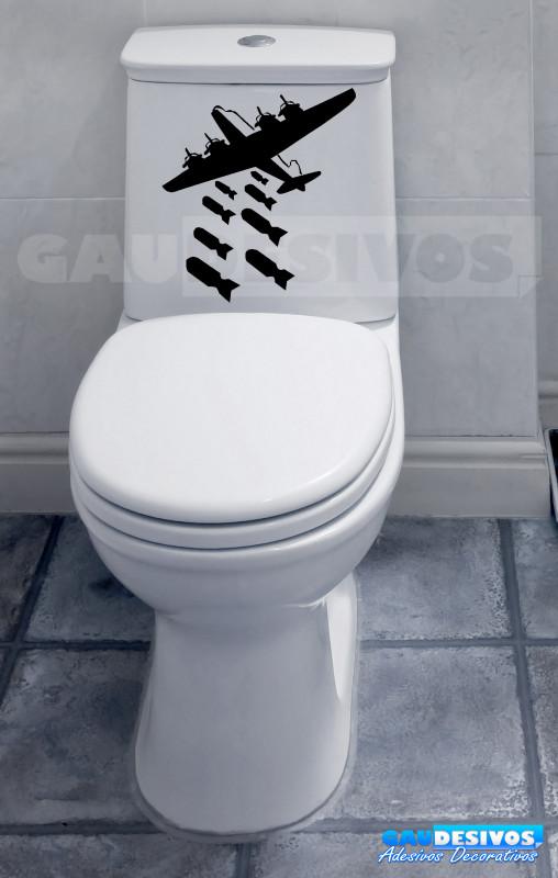 Adesivo De Olhos Para Artesanato ~ Adesivo de parede decorativos banheiro Avi u00e3o Bombando