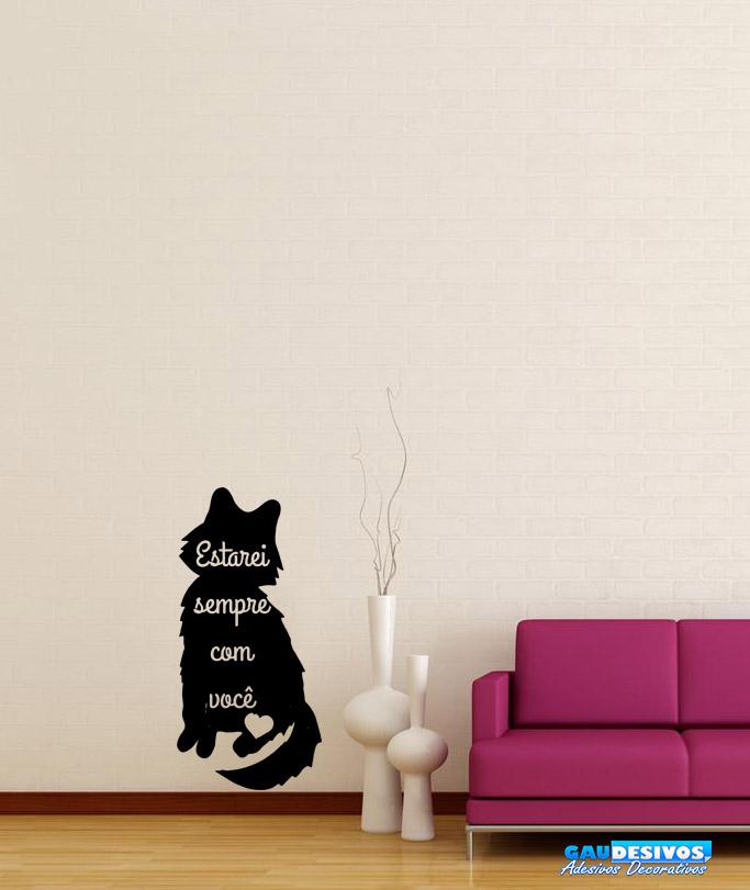 Adesivo Porta De Banheiro ~ Adesivo De Parede Decorativo Gato Mensagem De Carinho
