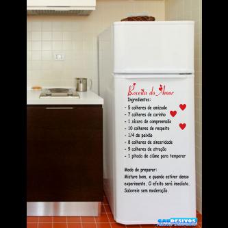 Adesivo Decorativo de Parede Frases Receito do Amor