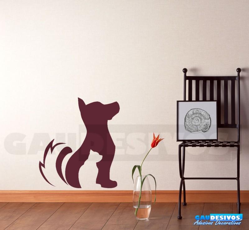Adesivo De Parede Nuvens ~ Adesivo decorativo cachorro e gato