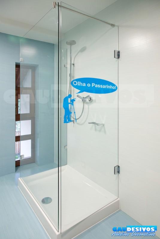 Adesivo De Olhos Para Artesanato ~ Adesivo de parede decorativos banheiro Olha o passarinho Banheiro