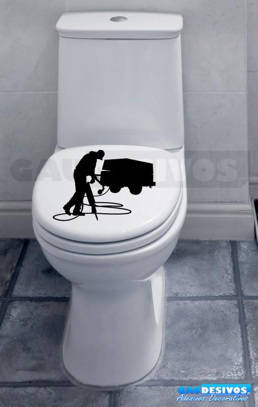 Adesivo de parede decorativos banheiro Trabalhador -> Adesivo Para Armario De Banheiro