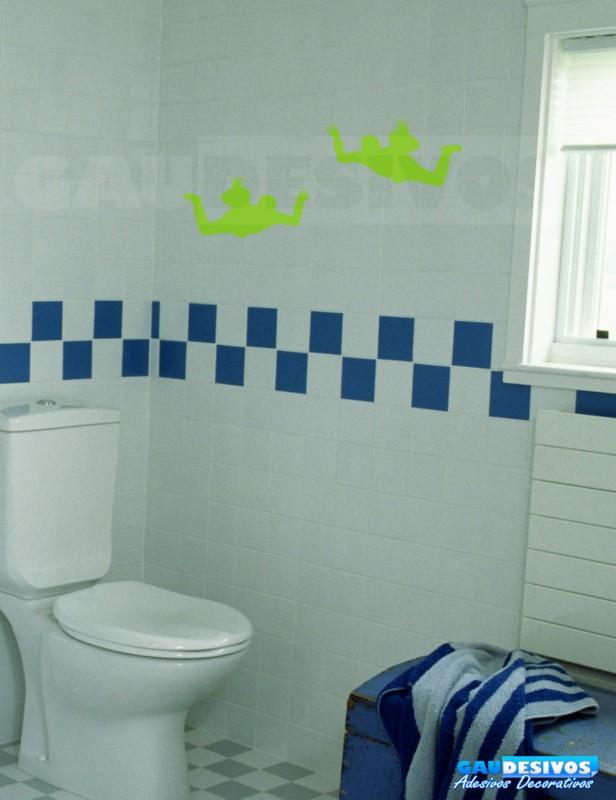 Adesivo De Parede Para Banheiro ~ Adesivo de parede decorativos banheiro paraquedas