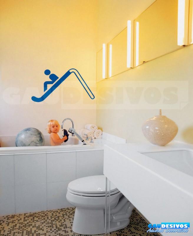 Adesivo Infantil De Parede ~ Adesivo de parede decorativos banheiro Escorregador Banheiro