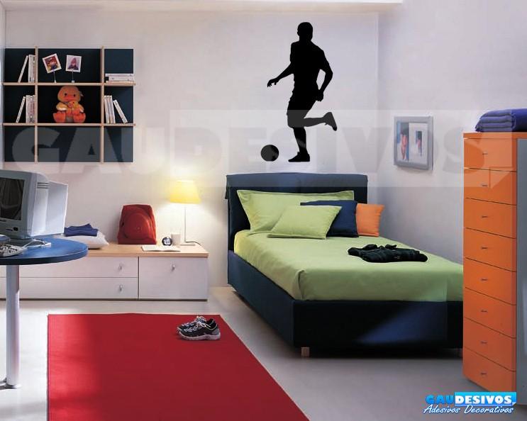 Artesanato Junino ~ Adesivo De Parede Decorativo Jogador De Futebol Esporte