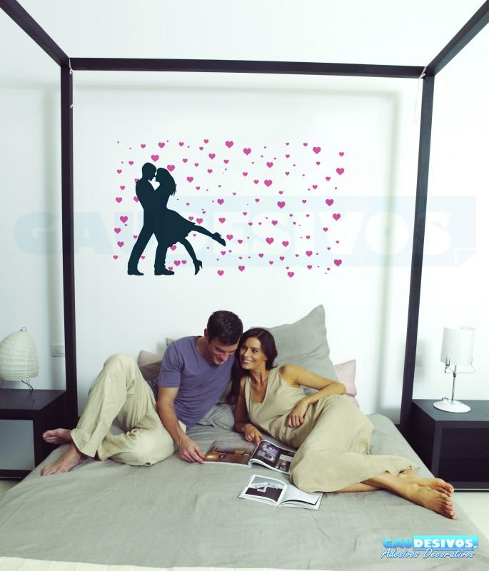 Aparador Ferro Mercado Livre ~ Adesivo Decorativo romantico casal com Coraç u00e3o Rom u00e2ntico