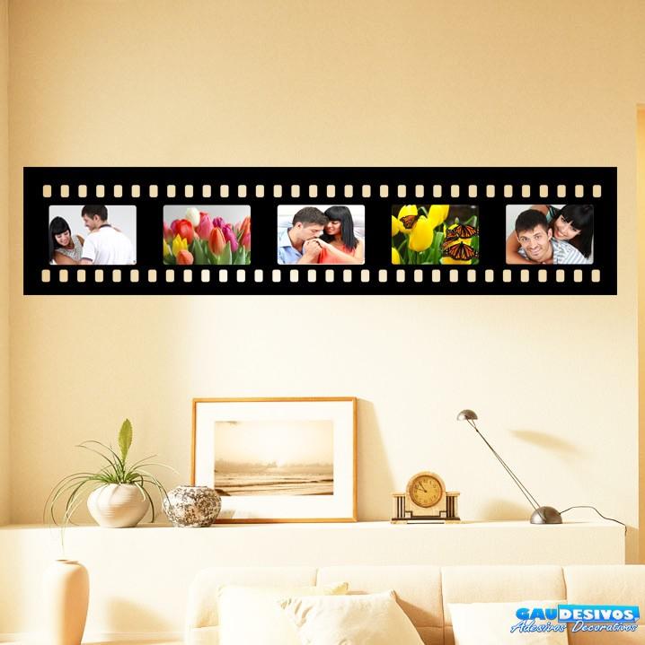 Adesivos de parede porta retrato filme horizontal 5 fotos for Papel pared personalizado foto