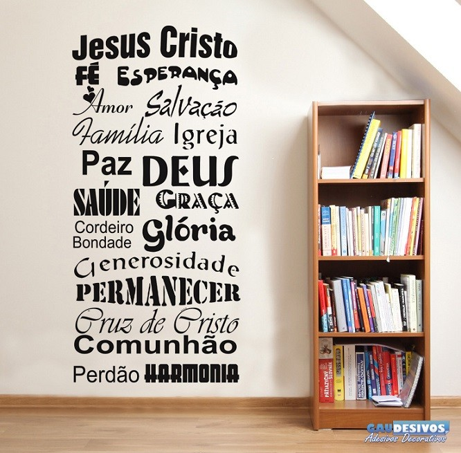Adesivo Decorativo Frases Jesus Cristo Frases
