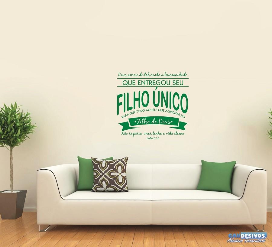 Adesivo De Mesversario ~ Adesivo Decorativo De Parede Frase Filho u00danico
