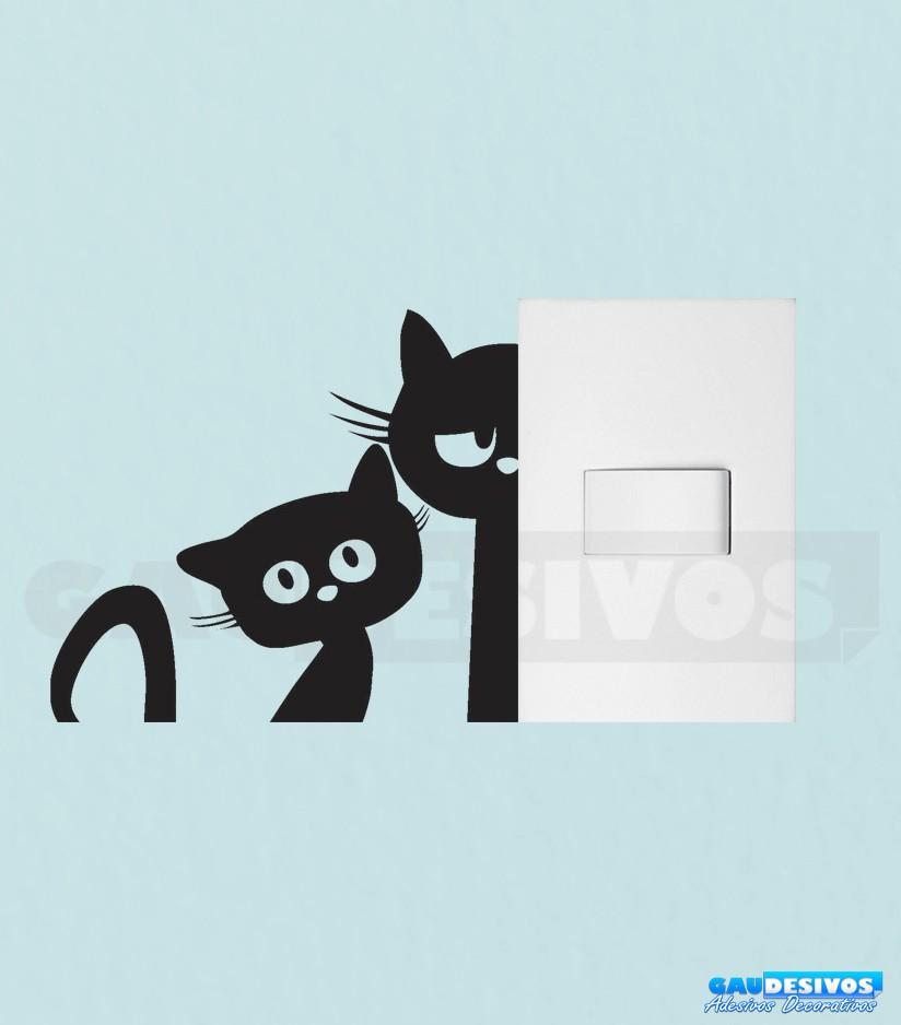 Adesivo De Parede Nuvens ~ Adesivo de tomada gatos Tomada Interruptor