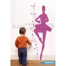 Adesivos Infantis Régua Bailarina