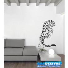 Adesivo Tigre Escalando