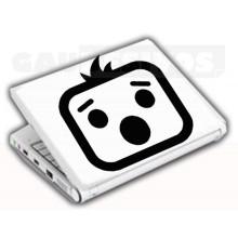Adesivos de Notebook Personalize com sua cara Assustado