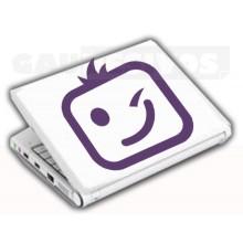 Adesivos de Notebook Personalize com sua cara Piscando