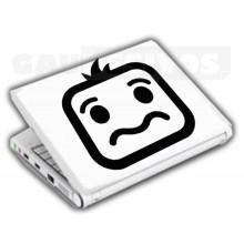 Adesivos de Notebook Personalize com sua cara Triste