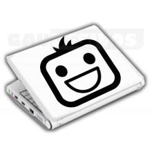 Adesivos de Notebook Personalize com sua cara Sorridente