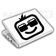 Adesivos de Notebook Personalize com sua cara com oculos