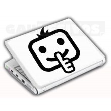 Adesivos de Notebook Personalize com sua cara Silencio