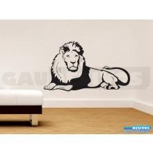 Adesivo Decorativo Leão deitado