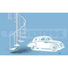 Adesivo Decorativos de carros Fusca 3