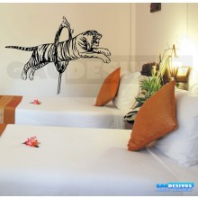 Adesivo De Parede Decorativo Tigre No Arco