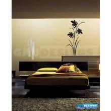 Adesivo Decorativo de parede floral e folha