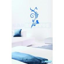 Adesivo Decorativo de parede floral grande