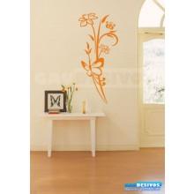 Adesivo Decorativo de parede borboleta com floral e rosas