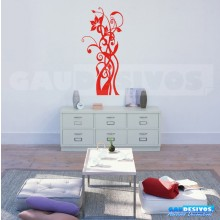 Adesivo Decorativo de parede Floral entrelada