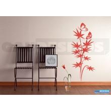 Adesivo Decorativo de parede Floral com borboleta