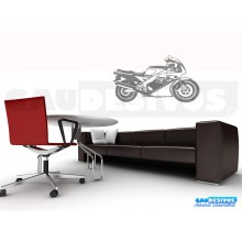 Adesivo decorativo de motos classica e esportiva