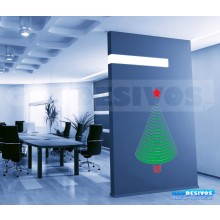 Adesivo De Parede Decorativos Arvore De Natal E Estrela