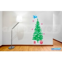 Adesivo De Parede Decorativos Arvore De Natal