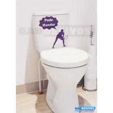 Adesivo de parede decorativos banheiro pode mandar