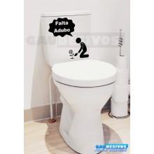 Adesivo de parede decorativos banheiro Adubo