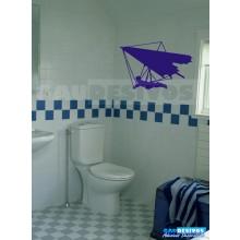 Adesivo de parede decorativos banheiro paraglider