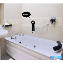 Adesivo de parede decorativos banheiro Binoculo