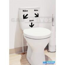 Adesivo de parede decorativos banheiro Sim Não
