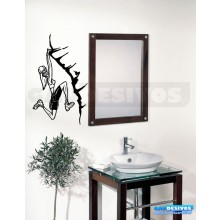 Adesivo de parede decorativos banheiro Abismo
