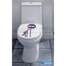 Adesivo de parede decorativos banheiro Depois Dessa