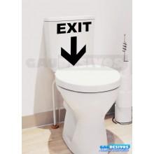 Adesivo de parede decorativos banheiro Exit